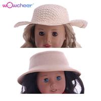 bebek kızları için doğum günü hediyesi toptan satış-WOWCHEER 18 Inç Amerikan Bebek Aksesuarları Moda Yeni Dokuma Şapka Kıyafet Oyuncaklar Fit 43 CM Bebek Bebekler Kız Doğum Günü Hediyeleri