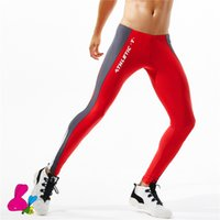 01f1cc0ddfa64 Men Running Tights Training Sport Leggings Patchwork Compression Pants 6  color Gym Wear Men Sexy Gym Legging S-XL Mallas Hombre