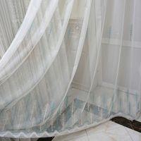 casa cortina blanca al por mayor-hotel Inicio apagón cortina cortina de rejilla blanco al final del árbol, gasa bordada, estudio, balcón, pantallas de cortina