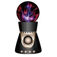 haut-parleur bluetooth mp3 3w achat en gros de-Bluetooth stéréo 3W magique haut-parleur portable MP3 sans fil balle UV balle ion induction électrostatique audio disque U