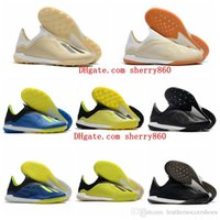 Wholesale turf mens resale online - 2019 top quality mens soccer shoes X Tango IN IC TF TURF indoor soccer cleats X football boots scarpe da calcio