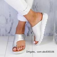 saliendo con zapatos de cuero al por mayor-Verano al aire libre de las mujeres cómodos zapatos sandalia de plataforma correcta engrosada calle cuero de la PU que data de compras suela plana sandalia