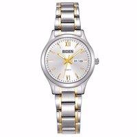 женские наручные часы оптовых-Кварцевые наручные часы Two Tone Серебряные и золотые часы Женские часы Стальной браслет Женские часы Модные повседневные женские платья Часы