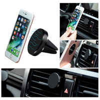 ventilador de ar do ímã venda por atacado-Magnetic Air Vent Mount Car Phone Holder para telefones Universal Magnet Car suporte do telefone Universal Mini Car Phone Holder Para GPS de alta qualidade