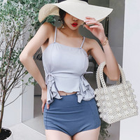Wholesale wearing suspender skirt for sale - Group buy Women s Two Piece Swimsuit Bathing Suit Women Tankini Womens Swim Wear Swimwear New Arrivals Korean Sexy Suspender Skirt