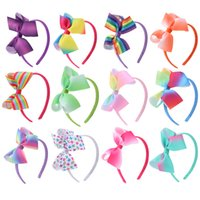 Wholesale headband inch for sale - Group buy American Rainbow Gradual Colour Hair accessories girl Hair Hoops inch Children s Festival Butterfly Tie Hair Headbands Party Favor