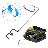 capacete ajustável venda por atacado-Retrovisor de Bicicleta ao ar livre Capacete De Equitação Ciclismo Espelho Retrovisor Ajustável Bicicleta Retrovisor Preto Bicicleta Acessórios LJJZ66