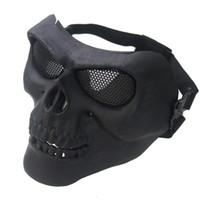 yeni kayak kafatası maskesi toptan satış-2019 Yeni Kafatası Çoklu Yüz Kayak Bisiklet Motosiklet Doğa Sporları Kolaylık Bisiklet Maske #n Wear Maske Soğuk