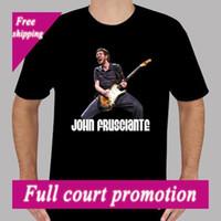 pimentão vermelho venda por atacado-John Frusciante * Fique Red Hot Chili Peppers T-Shirt Preta dos homens Tamanho S para 3XLMen t camisa Anime Popular T-shirts