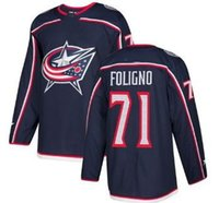 Wholesale foligno jersey resale online - Men s Columbus Blue Jackets Foligno Home Stitched Jersey Personality Trainers Bobrovsky Atkinson Panarin Hockey Jersey