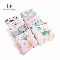подушки с плоской головкой оптовых-Baby Breathable Printed Pillow Infant Sleep Positioner Support Pillow Cushion Prevent Flat Head Newborn Nursing Anti Roll