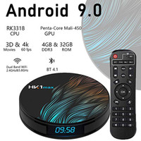 Wholesale 16gb rom android tv box resale online - HK1 Max TV Box Android GB RAM GB ROM RK3318 Quad core Ultra HD Dual WiFi Bluetooth Global HDMI Media Player Smart TV Box