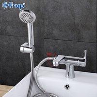ducha estilo clásico al por mayor-1 juego al por mayor de estilo clásico de baño del grifo del lavabo de la mano con ducha de agua fría y mezclador de agua caliente grifos de la bañera de 75 grados Interruptor F1252
