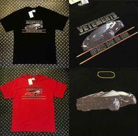 ingrosso auto hip hop-New Vetements T-Shirt Uomo Donna Oversize Vetements Top ricamo Tees 19SS Streetwear Casual Hip Hop Car Vetements T-shirt