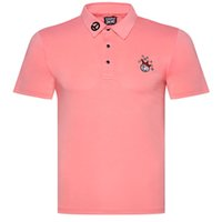 Wholesale men sport t shirts resale online - New Dust_Proof Golf Shirt Latest Spring summer clown Tit Short Golf sports shirt Short Sleeves Anti Pilling Short Golf T Shirt
