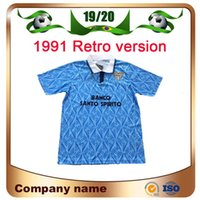 ecd336e140c Wholesale retro soccer jerseys for sale - Group buy 1991 Lazio Retro  version Soccer Jersey Lazio