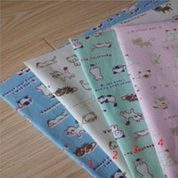 gatos tecido diy venda por atacado-Linho de algodão dos desenhos animados gato impressão tecido de lona para patchwork tecido de linho artesanal DIY costura artesanato pano