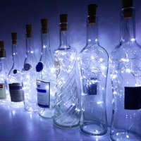 ingrosso artigianato decorativo di natale-2M 20LED Garland Copper Wire Bottiglia Corker String Fairy Light per Glass Craft Bottle Capodanno Natale Decorazioni di nozze di San Valentino