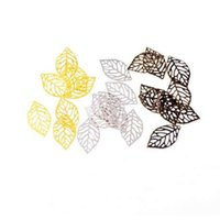 Wholesale Filigree Leaf Connectors Metal Crafts Decoration DIY Findings