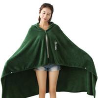 Wholesale cosplay cloak hoodies online - Attack on Titan Blanket Shingeki No Kyojin Survey Corps Cape Cloak Flannel Cosplay Costume Hoodie Attack on Titan Cloak Blanket Shingeki