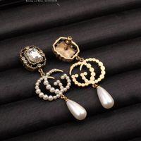 poteaux de poste en or achat en gros de-Femmes boucles d'oreilles classiques en argent avec diamants en argent 925 cœurs et flèches plaqués en or blanc 18 carats, taille CZ