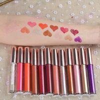 Wholesale full hose resale online - print buyer logo Crystal Lip Gloss Liquid Lipstick Hose Long Lasting Moisturizing Lips Gloss Lipstick Shimmer Glitter Lip Tint Lipgloss