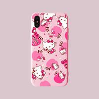 pinturas bonitas venda por atacado-Casos de telefone rosa flamingo pintura tpu macio bonito protetor de tampa traseira dos desenhos animados para iphone x xr xs max 6 6 s 6 plus 7 7 mais 8 8 plus