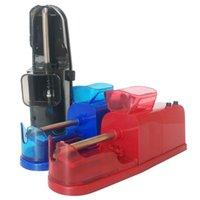 rolagem automática do cigarro do tabaco venda por atacado-Automático Elétrica Cigarro Injector Rolling Maker Máquina De Rolo de Tabaco Eletrônico Moedor Triturador de Especiarias Erva Seca Vaporizador 3 cores