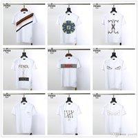 camisa preta do desenhista dos homens venda por atacado-As camisetas de grife Newst Men's foram projetadas em preto e branco, e as camisetas masculinas de grife de luxo da marca OFF tinham mangas curtas