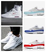 joyas rojas al por mayor-2019 Zapatillas de running para hombres Mujeres Air 1 Premium Sc Jewel University Azul Blanco Rojo Negro Hombres Zapatillas de deporte Diseñador de lujo Maxes Shoes Eur36-45