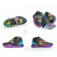 Wholesale luminous basketball shoes for sale - Group buy New Arrival Kyrie s Halloween Luminous Grand Purple Black Basketball Shoes Mens Trainers Cheap Sale Sports Sneakers Size