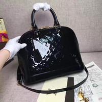 Wholesale branded sling handbags resale online - 2Gnuine femalLV bag ALMA BB classic old flower shell bag real leather shoulder slung handbag famous brands handbag top quality Crossbody bag