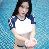 traje de baño sexy japonés al por mayor-Envío gratis nueva lencería sexy cosplay sexy mujer puro japonés tentación traje de baño elástico japonés traje de baño de agua muerta