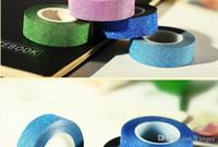 dekor klebeband groihandel-Wholesale-10M DIY selbstklebende Glitter Tape Washi Papier Tape Sticker Hochzeit Geburtstag Festival Dekoration Home Decor Klebeband