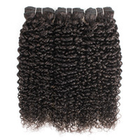 Wholesale malaysian curly hair weave style for sale - Group buy Brazilian Jerry Curly Hair Extensions Bundles Afro Style Natural Brown Peruvian Mongolian Raw Indian Virgin Human Hair Weave Bundles