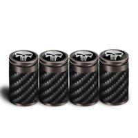 клапаны марки оптовых-4 шт. Углеродного волокна шинный клапан Высокое качество Стайлинга Автомобилей Колесо Колпачки Клапанов из Углеродного волокна Тип воздуха Пылезащитный Чехол, пригодный для автомобилей марки
