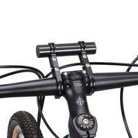 stangenhalterhalterung großhandel-Professionelle Fahrrad Taschenlampe Halter Lenker Frontleuchte Extender Halterung Doppelrohr Radfahren Zubehör Schwarz # 299180