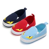 ingrosso ragazzi scivolano le scarpe da ginnastica-Kids Designer Shoes FF Scarpe da bambino Cartoon Animal Little Monster Neonato Ragazzi Ragazze Soft Bottom Sneakers Infantili Primi Camminatori B62804