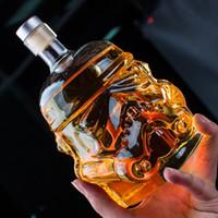 glaskannen großhandel-1 stücke Weißer Soldat Glas Krug Storm Trooper Geist flasche Kristall Weinglasflasche Glasschale Home Bar Tools Set