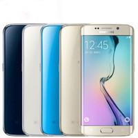 3gb ram android mobiles venda por atacado-Samsung Galaxy S6 BORDA G925F S6EDGE Desbloqueado 4G LTE GSM Android Octa Núcleo telefone WiFi 3GB RAM 32GB ROM GPS 1080P WIFI móvel celular