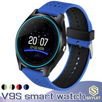Wholesale outdoor gps bluetooth for sale - Group buy V9S Smart Watch Bluetooth Smart Bracelet with SIM Card Camera Fitness Tracker MTk6261 for Android IOS Cellphones in Retail Box