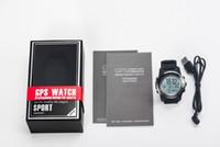 Wholesale gps run tracker online – S968 GPS smart watch IP68 Waterproof Smartwatch Dynamic Heart Rate Monitor Multi sport Men Swimming Running Sport Watch