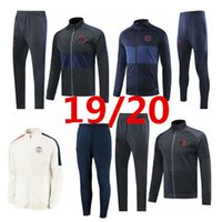 rosa trainingsanzugjacke großhandel-PSG Jacke Anzug 2019 2020 Mbappe cavani 2019/20 Paris Jacke rosa Trainingsanzug Winterkleidung