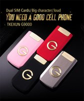 Wholesale old cellphones resale online - Luxury Flip inch TKEXUN Slim Flip HD Display Press Key SOS Speed Call Magic Voice Flashlight Cellphone Mobile Phone For Old People