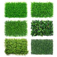 Wholesale landscape turf grass resale online - Artificial Grass Lawn Turf Simulation Plants Landscaping Green Plastic Lawn Door Shop Image Backdrop Grass Flores Wall Decor C19041302