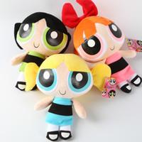 Wholesale blossom toys resale online - 20Cm Powerpuff Girls Plush Doll Toys For Children Bubbles Blossom Buttercup Stuffed Plush Doll Three little Girls New Year Gift