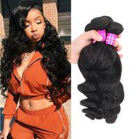 9A Mink Brazilian Loose Deep Water Body Wave Hair 3Bundles Malaysian Peruvian Indian Virgin Hair Bundles Weft Cheap Human Hair Extensions