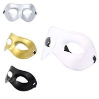 traje de fantasia de homem venda por atacado-New Classic Mulheres / Homens Venetian Masquerade Meia Máscara Facial para Festa Traje Bola Fancy Dress Costume