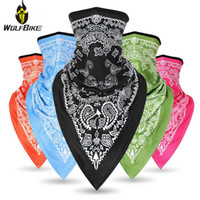 Wholesale green motorbike helmets for sale - Group buy 3D Triangle Face Mask Cycling Bandana Magic Neck Scarf Moto Bicycle Windproof Headwear Men Motorbike Helmets Sunscreen Balaclava