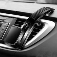 esnek evrensel telefon araba tutacağı yuvası toptan satış-Evrensel Esnek Uzun Kol Manyetik pano araba gps tutucu akıllı cep telefonu için 360 içinde döndürün araba montaj desteği ile güçlü mıknatıs